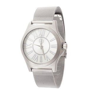 Fortune NYC Women's Silver Case / Silver Mesh Strap Watch