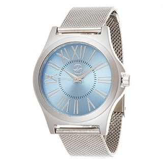 Fortune NYC Women's Silver Case / Silver Strap Mesh Watch