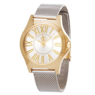 Fortune NYC Women's Goldtone Case / Silver Strap Mesh Watch