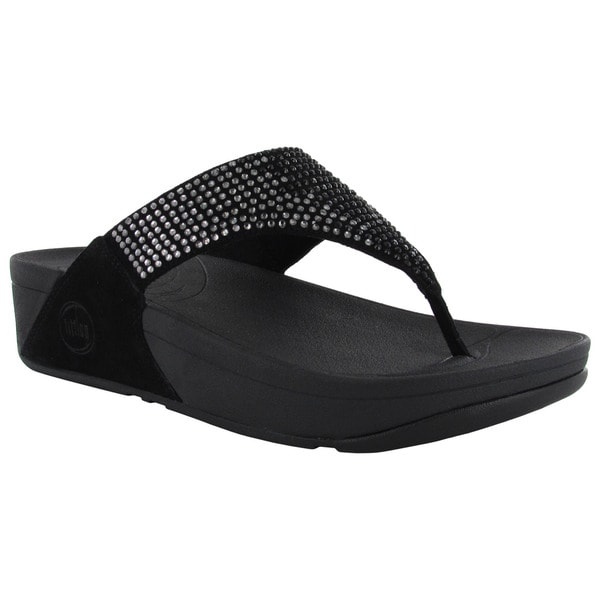 e852061638c Shop FitFlop Womens Flare Leather Thong Flip Flops - Free .