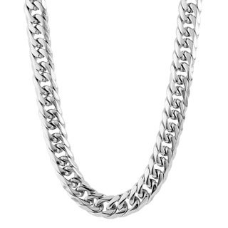 Crucible Men's Polished Stainless Steel Curb Chain - 24 inches