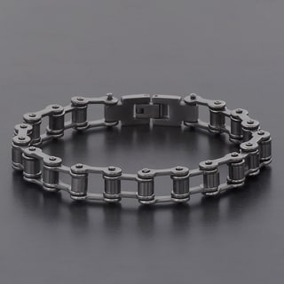 Crucible Stainless Steel Bicycle Style Link Chain Bracelet