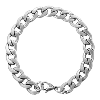 Crucible Stainless Steel Brushed Finish Curb Link Chain Bracelet