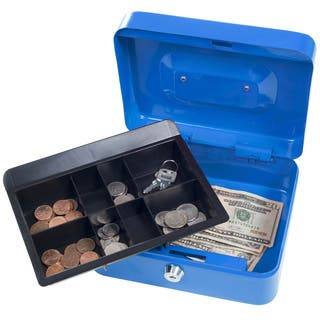 Stalwart 8 Inch Locking Cash Box with Coin Tray|https://ak1.ostkcdn.com/images/products/10480599/P17569450.jpg?impolicy=medium
