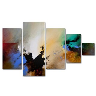 CH Studios 'Clouds Connected II' 5 Panel Art Set Version 2