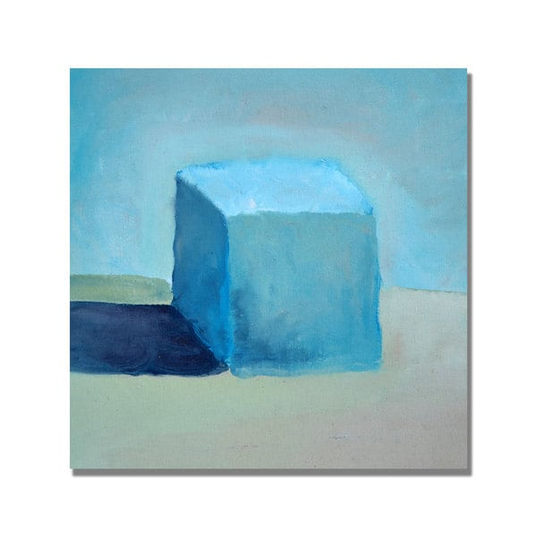 Michelle Calkins 'Blue Cube Still Life' Canvas Art - Multi