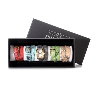 Invicta Lupah Women's Mop Dial 5 Interchangeable Leather Bands Watch
