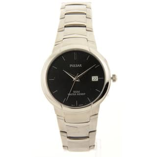 Mens Pulsar Stainless Steel Black Dial Date 5atm Casual Watch|https://ak1.ostkcdn.com/images/products/10480650/P17569349.jpg?impolicy=medium