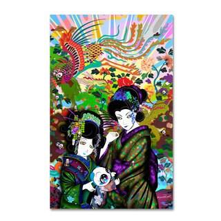 Miguel Paredes 'Pulgha & 2 Geishas' Canvas Art - Multi