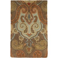 """Hand-Tufted Gaines Paisley Wool Area Rug - 3'3"""" x 5'3"""""""