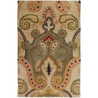 Hand-Tufted Gaines Paisley Wool Area Rug - 2' x 3'