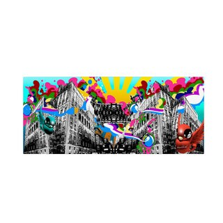 Miguel Paredes 'Urban Rainbow' Canvas Art