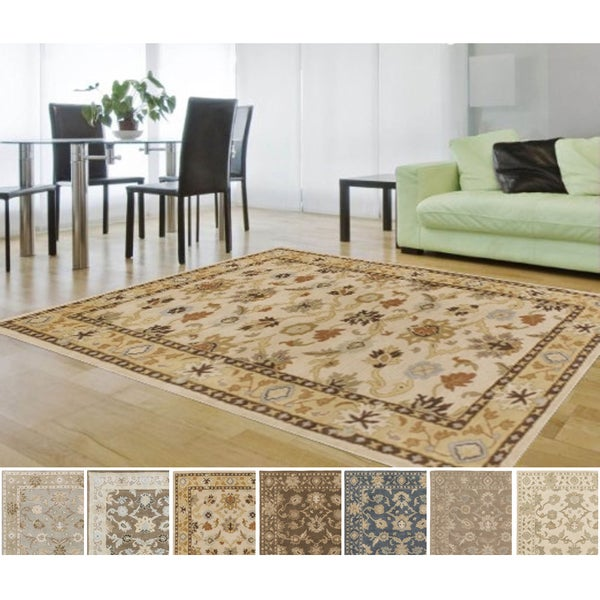 Hand-tufted Nick Traditional Wool Area Rug - 6'