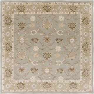 Hand-tufted Nick Traditional Wool Area Rug (Olive - 4 Square)