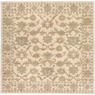 Hand-tufted Nick Traditional Wool Area Rug (Khaki - 4 Square)