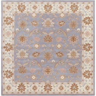 Hand-tufted Nick Traditional Wool Area Rug (Grey/Brown - 4 Square)