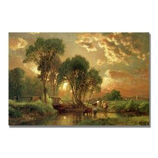 George Inness 'Medfield Massachusetts' Canvas Art