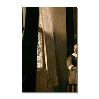 Jan Vermeer 'Lady Writing a letter' Canvas Art