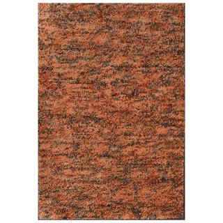 Rust Shag Wool Rug (6' x 9')