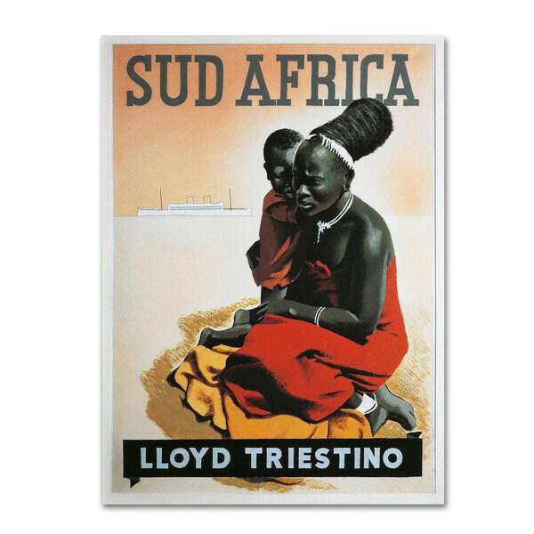 'South Africa Lloyd Triestino 1930' Canvas Art