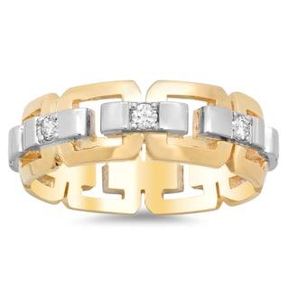 14k Two-tone Gold Men's Eternity 1/2ct TDW Diamond Ring (G-H, SI2)