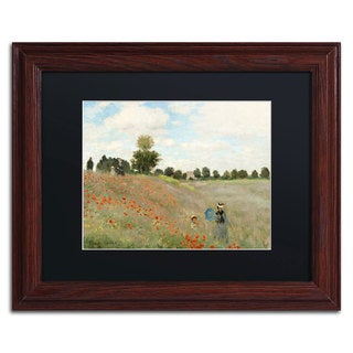 Claude Monet 'Wild Poppies Near Argenteuil' Black Matte, Wood Framed Wall Art