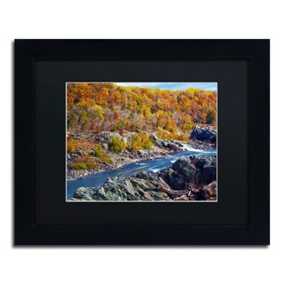 CATeyes 'Potomac Autumn' Black Matte, Black Framed Wall Art
