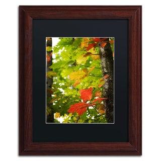 Philippe Sainte-Laudy 'Oak Leaves' Black Matte, Wood Framed Wall Art