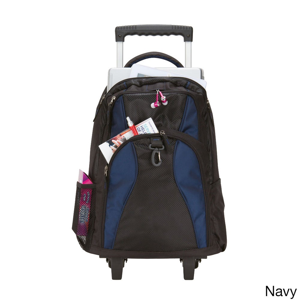 GOOD HOPE BAGS School Elevated Rolling 17-inch Laptop / T...