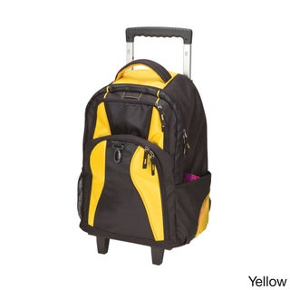 Goodhope School Elevated Rolling 17-inch Laptop / Tablet Backpack (Option: Yellow)
