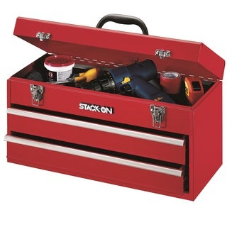 Stack-On 20-inch 2 Drawer All Steel Portable Tool Chest, Red