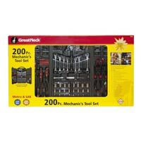 Great Neck 200-piece Mechanic's Tool Set with Carrying Case