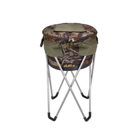 Goodhope Camo Outdoor Party 48-Can Collapsible Barrel Cooler With Stand