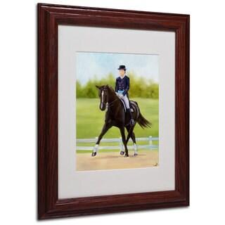 Michelle Moate 'Horse of Sport IX' White Matte, Wood Framed Wall Art