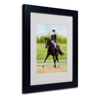 Michelle Moate 'Horse of Sport IX' White Matte, Black Framed Wall Art