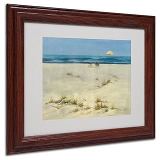 Rio 'Two Small Boats' White Matte, Wood Framed Wall Art