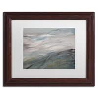Hilary Winfield 'Sea View' White Matte, Wood Framed Wall Art