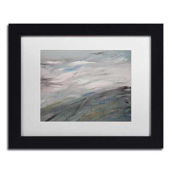 Hilary Winfield 'Sea View' White Matte, Black Framed Wall Art