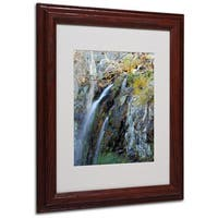 CATeyes 'Flows' White Matte, Wood Framed Wall Art