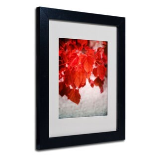 Philippe Sainte-Laudy 'Red is On' White Matte, Black Framed Wall Art