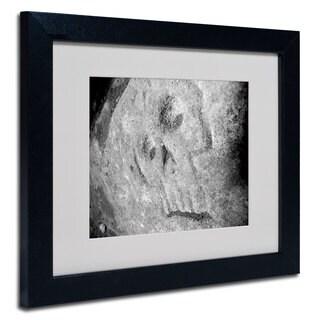 Monica Fleet 'Rebellious' White Matte, Black Framed Wall Art