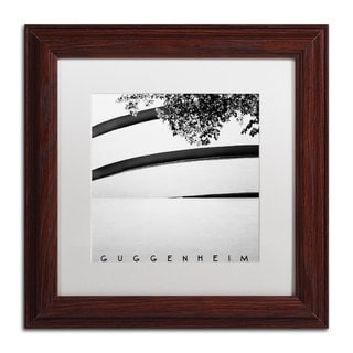 Nina Papiorek 'Guggenheim' White Matte, Wood Framed Wall Art