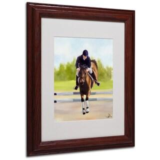 Michelle Moate 'Horse of Sport X' White Matte, Wood Framed Wall Art