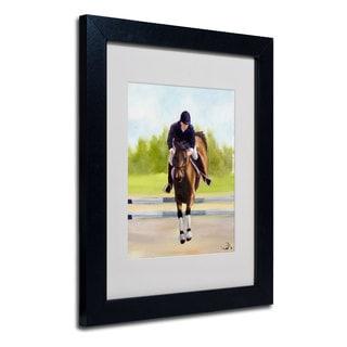 Michelle Moate 'Horse of Sport X' White Matte, Black Framed Wall Art