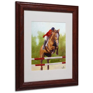 Michelle Moate 'Horse of Sport III' White Matte, Wood Framed Wall Art