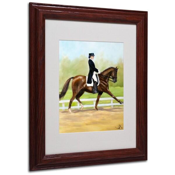 Michelle Moate 'Horse of Sport IV' White Matte, Wood Framed Wall Art