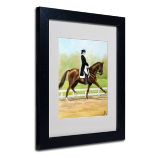Michelle Moate 'Horse of Sport IV' White Matte, Black Framed Wall Art