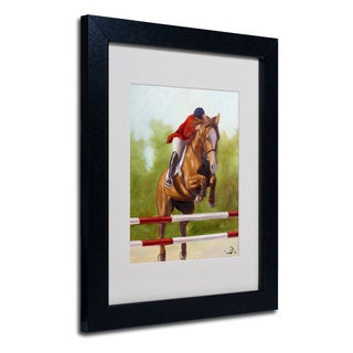 Michelle Moate 'Horse of Sport III' White Matte, Black Framed Wall Art