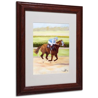 Michelle Moate 'Horse of Sport II' White Matte, Wood Framed Wall Art