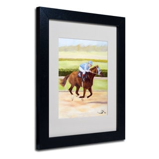 Michelle Moate 'Horse of Sport II' White Matte, Black Framed Wall Art